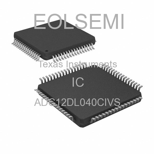 ADC12DL040CIVS - Texas Instruments - IC