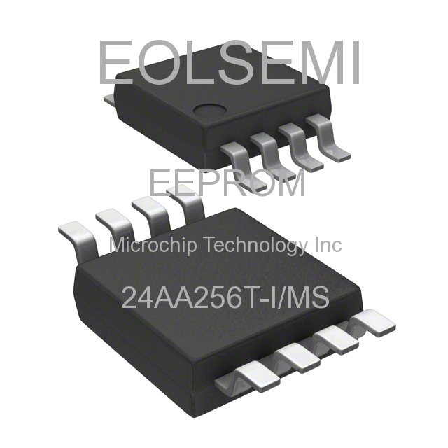 24AA256T-I/MS - Microchip Technology Inc - EEPROM