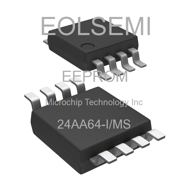 24AA64-I/MS - Microchip Technology Inc - EEPROM