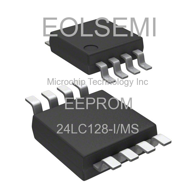 24LC128-I/MS - Microchip Technology Inc - EEPROM