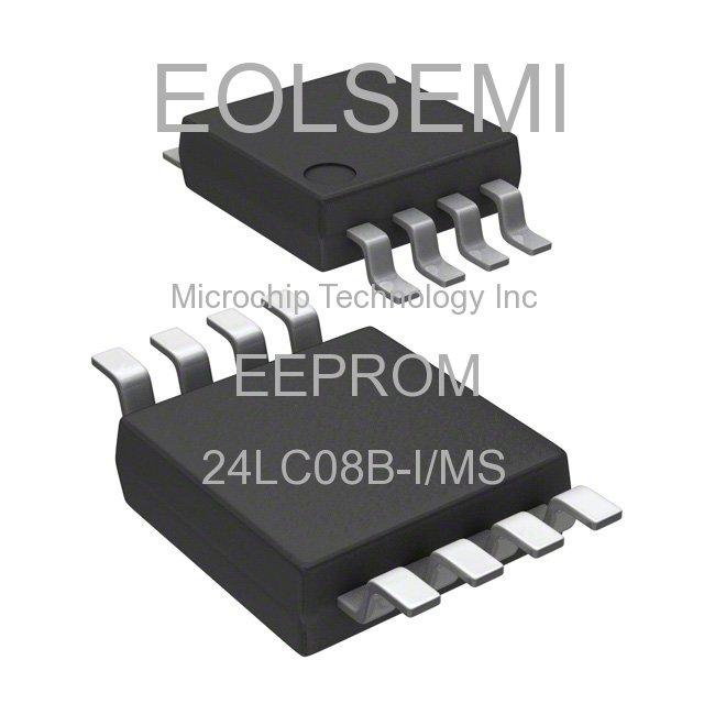 24LC08B-I/MS - Microchip Technology Inc - EEPROM