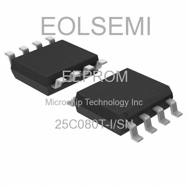 25C080T-I/SN - Microchip Technology Inc - EEPROM